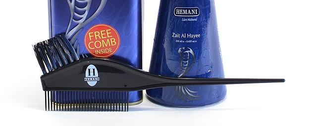 Специальная расческа для волос в железной банке масла с жиром кобры Hemani - Zait Al Hayee
